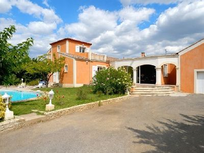 Photo for Renovated villa in a typical Languedocian village, 19400 sqf lot with pool