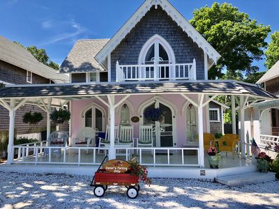 Photo for Oak Bluffs Gingerbread Cottage near Downtown, Beach, Ferry and Ocean Park!
