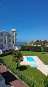 Photo for Superb apartment with swimming pools and sea view