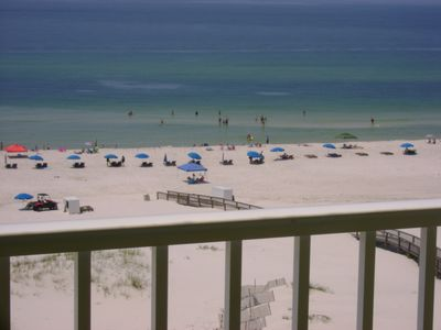 Photo for Fantastic Gulf Front Sunsuite!  Beach Front Balcony View! Aug 22-27, Available!
