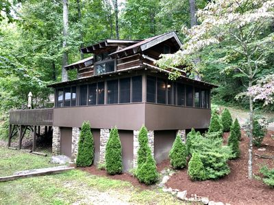 Photo for Beautiful, Secluded Private Mountain Retreat just outside of Asheville, NC