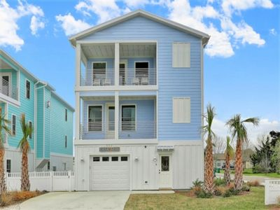 Photo for BOOK NOW ... Stylish 4BR New Construction with Ocean views and Private Elevator all overlooking the Heart of Historic Kure Beach!