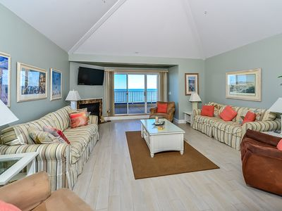 Photo for Stylish luxury oceanfront penthouse with free WiFi, an outdoor pool, a rooftop putting green, and view from every room located on the Boardwalk!