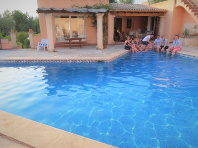 Photo for Country villa with privacy, large pool, beaches and marinas just 7-10 mins away