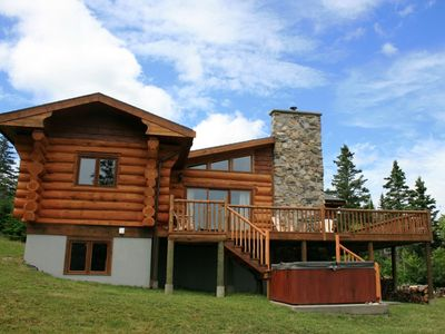 Photo for Castaway Ocean Lodge - Oceanfront Log Cabin with Hot Tub