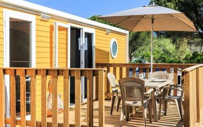 Photo for Camping Holiday Green ***** - Cottage Yellow Corner 3 Rooms 4/6 People