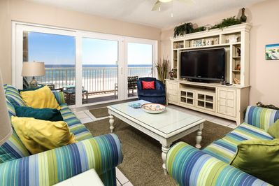 This 3 bedroom unit swarms you with beautiful beachy colors - This 3 bedroom unit swarms you with beautiful beachy colors coordinated with brights, making you feel right at home!