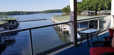 Photo for Beautiful waterfront condo with the boat slip! Its five o'clock somewhere...
