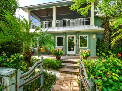 Photo for LUXURY Florida Charm w/Pool, Spa, Lanais,Gardens. Steps to BEST Beach & Pine Ave