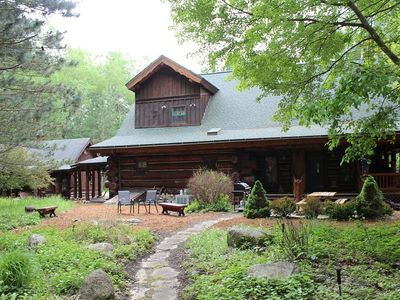Photo for Dream Catcher Log Cabin (Newaygo, MI): JUST LISTED! Sleeps 10-12-Central Air, WiFi, 60 private acres