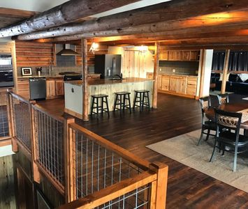 Photo for NEW! 5BR/5.5BA Renovated Historic Log Cabin in the Heart of Town!