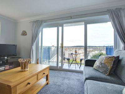 Photo for Sea Breeze is a delightful ground floor apartment with amazing sea views from your very own balcony