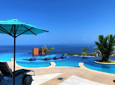 Rooftop infinity pool. Best views in Puerto Vallarta.
