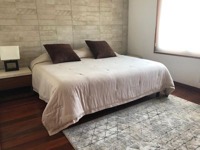"""Photo for Comfortable Bedroom 2, King size bed, closet, private bathroom and Smart TV 50"""""""