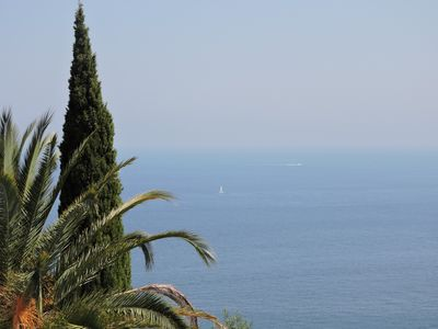 Photo for The domain with an impregnable sea view, swimming pool, Garden, secured