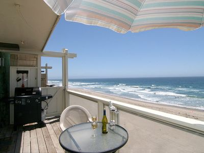Photo for Santa Cruz  Area Beachfront Townhouse with Spectacular Views ON the Beach