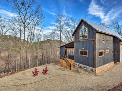 Photo for NEW! Contemporary Broken Bow Cabin w/Deck+Hot Tub!
