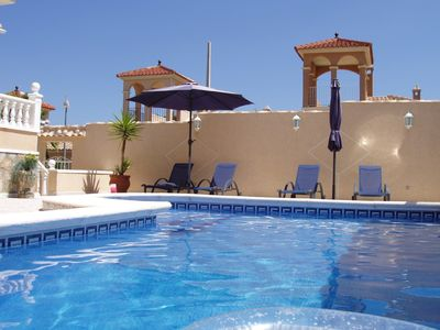 Photo for Executive style, Fully Air Conditioned, Private villa with heated swimming pool.