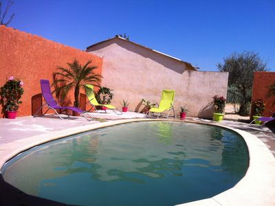 Photo for Pleasant cottage rural with pool