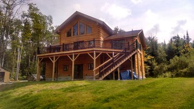Photo for Contemporary Log Home Tucked Away Yet Convenient to I 93 With Fantastic View