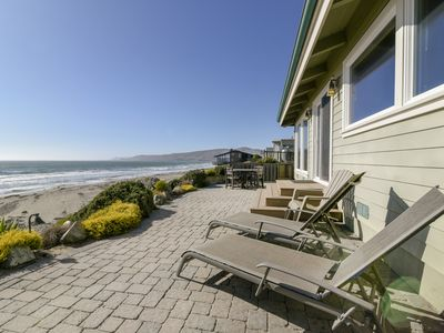 Photo for Amazing Luxury Oceanfront Home! On the Sand in Cayucos