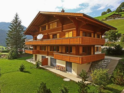 Photo for Apartment 889 m from the center of Grindelwald with Parking, Internet, Washing machine, Balcony (44243)