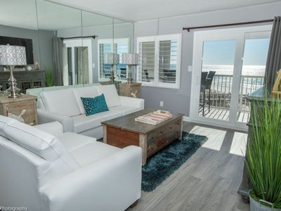 Photo for HSR 402 is a Luxury 2 BR - Completely Renovated and stunning in its decor Sleeps 6 and on the beach!
