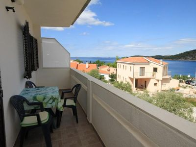 Photo for One bedroom apartment with balcony and sea view Ražanj (Rogoznica)