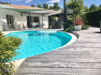 Photo for beautiful house on the ground floor overlooking a terrace with pool and jacouzzy