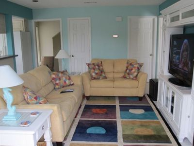 Photo for Large Townhome Full of Amenities - One Block from Beach!