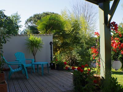 Photo for Relax in a Beautiful,  Tranquil Gardens Solar-heated Private Pool