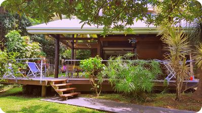 "Photo for The ""Dream"" Cottage: 2/4 pers in the heart of a lush tropical pool garden."