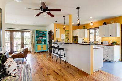 Gorgeous and bright kitchen and living room