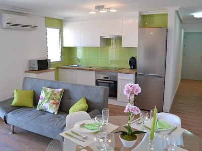Photo for 100 m from the beach, beautiful 2 bedroom apartment brand new comfort with air conditioning