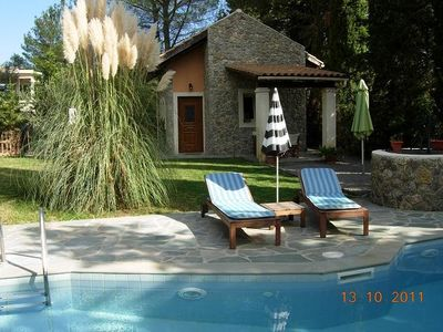 Photo for Cottage with private pool in Dassia 200m from the beach