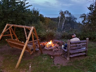 One of our two fire pits
