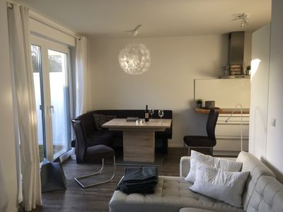 Photo for Close to the beach 3-room apartment with large terrace and garden. Familyfriendly.