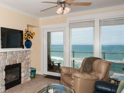 Photo for *Promo!* Top Floor Condo-Oceanfront, HDTV, Private Hot Tub, Indoor Pool, Wifi!