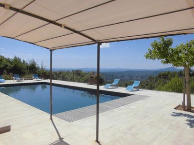 Photo for Villa with air conditioning 7 rooms with shower and wc heated swimming pool panoramic view