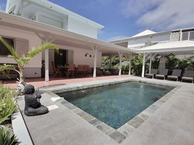 Photo for Superb south caraibe pool villa, 5 bedrooms, quiet, beach & restaurants on foot