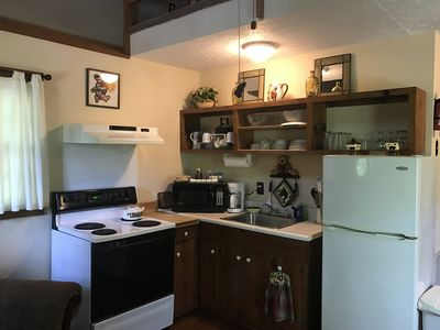 Kitchen with full-size appliances