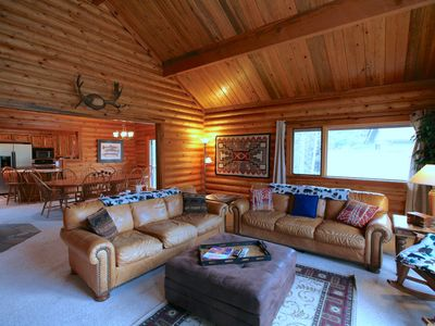 Photo for 3 Blue Grouse - Gorgeous Log Home! SHARC Passes, Hot Tub, Family Room & Game Table