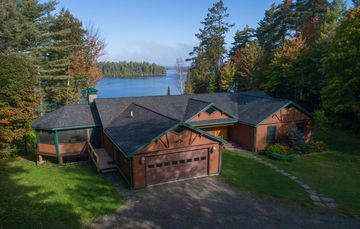 New Lakefront Upper Saranac Lake Home, Winter or Summer, Sleeps Up To 20!