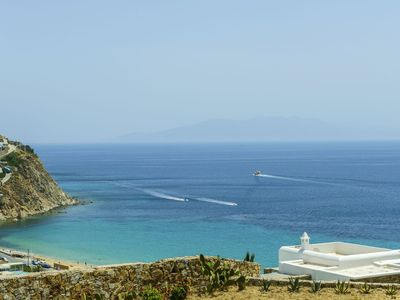 Photo for Villa Cloe Mykonos, 4 Bedrooms, 4 Bathrooms Private Pool and jacuzzi Up to 8 Guests, overlooking the Aegean Sea, Paros and Naxos
