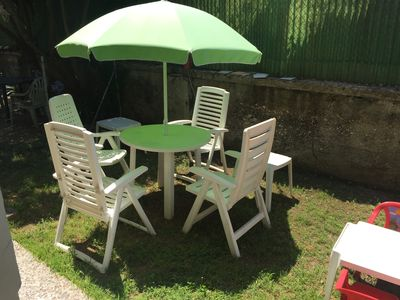 Photo for 50 meters from the sea with garden, WiFi 2/4 places