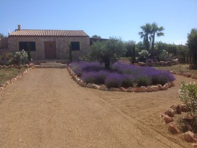 Photo for Natural stone finca with pool and sun terrace in Son Carrio