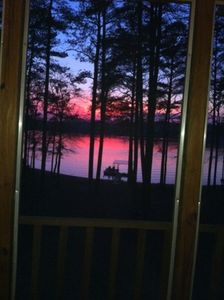 Gorgeous Sunset View from Lake House porch