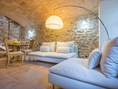 Photo for Near Beaches. Stylish Stone Cottage in Medieval Village