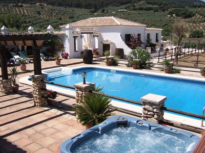Landscaped terraces with pool and heated Jacuzzi