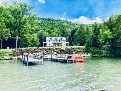 Photo for Lake George Manor / Majestic Lakefront Estate,  Central Air/WiFi. Close to all